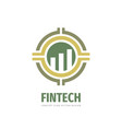 fintech logo template design exchange market vector image vector image