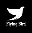 flying bird beauty logo vector image vector image