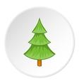 Fur tree icon cartoon style vector image vector image