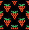 geometric flat seamless pattern with cloudberry vector image