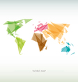 Geometric map of the world vector image vector image