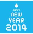 happy new year 2014 card30 vector image vector image