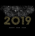 happy new year 2019 gold deco monogram ornament vector image vector image