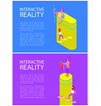 interactive reality goggles vector image vector image