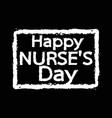 international nurse day design vector image