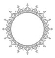 islamic mandala for coloring vector image vector image