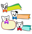little dog smiled and banner on white background vector image