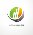 logo design with chart bars vector image