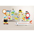 Map with Mode of Transport vector image vector image