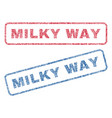 milky way textile stamps vector image vector image