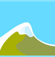 mountains with snowy peak vector image