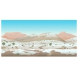 Natural desert landscape winter view vector image vector image