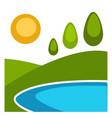 nature landscape flat background vector image vector image