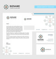 network business letterhead envelope and visiting vector image vector image