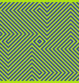 optical motion seamless pattern blue green vector image