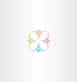 people icon logo design vector image vector image