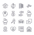 real estate icon suitable for info graphics vector image vector image