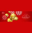 red christmas ball banner in german language vector image vector image