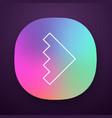 rightward arrowhead app icon forward triangular vector image