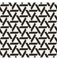 Seamless Black and White Geometric Triangle vector image vector image