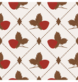 Seamless pattern with strawberry and polka dot rho vector image vector image