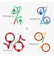 Set of percentage signs flat design vector image vector image