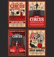 shapito big top circus funfair show retro posters vector image vector image
