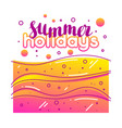 summer holidays on sandy beach stylized vector image vector image