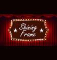 theater curtain frame light bulbs blue vector image vector image