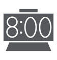 time glyph icon clock and hour digital watch vector image vector image