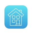 Two storey detached house line icon vector image vector image