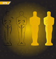 victory ceremony of the theater and film actors vector image