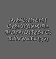 vintage gothic old style typeface on dark vector image vector image
