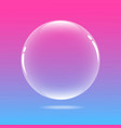 water bubble with pink and blue vector image vector image