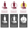Wine logo company - sales direct vector image vector image