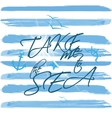 Striped background in nautical style vector image