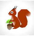 squirrel with an acorn vector image