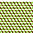 3d cubes tricolor geometric background vector image vector image