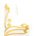 abstract art background with gold texture hand vector image