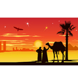 Arabian night background vector image