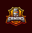 awesome logo template for pubg gaming sport team vector image