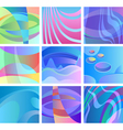 background glow abstract design set vector image