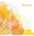 Background greeting card with stylized autumn vector image