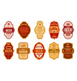 beer vintage labels retro beers brewery badges vector image
