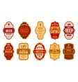 beer vintage labels retro beers brewery badges vector image