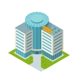 Business center building isometric vector image vector image