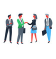 businessmen and businesswomen workers and vector image vector image