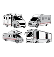 cars Recreational Vehicles Camper Vans Caravans vector image vector image