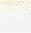 christmas golden confetti falling shiny confetti vector image vector image