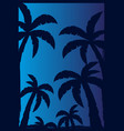 colorfull palms with dark background vector image vector image